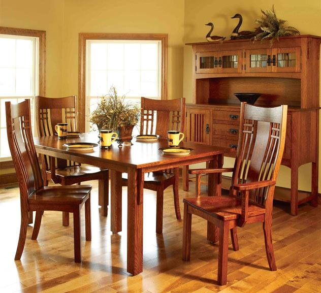 Ann Arden Amish Liberty Mission Dining Set