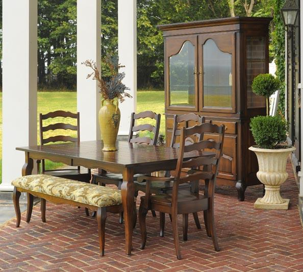 Ann Arden Amish Provence Dining Set