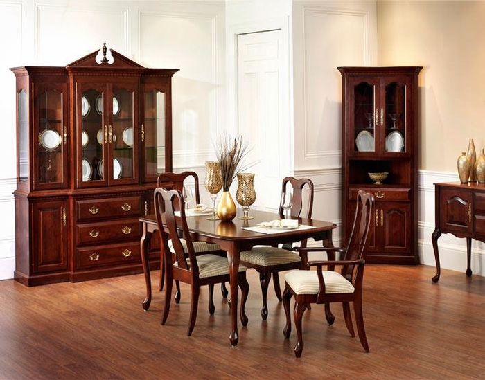 Ann arden amish queen anne dining set dining tables - Queen anne dining room furniture ...