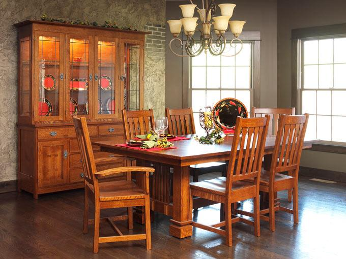 Ann Arden Amish Sante Fe Dining Set Dining Tables