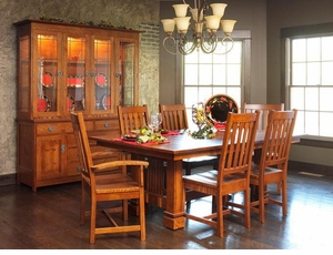 Ann Arden Amish Sante Fe Dining Set