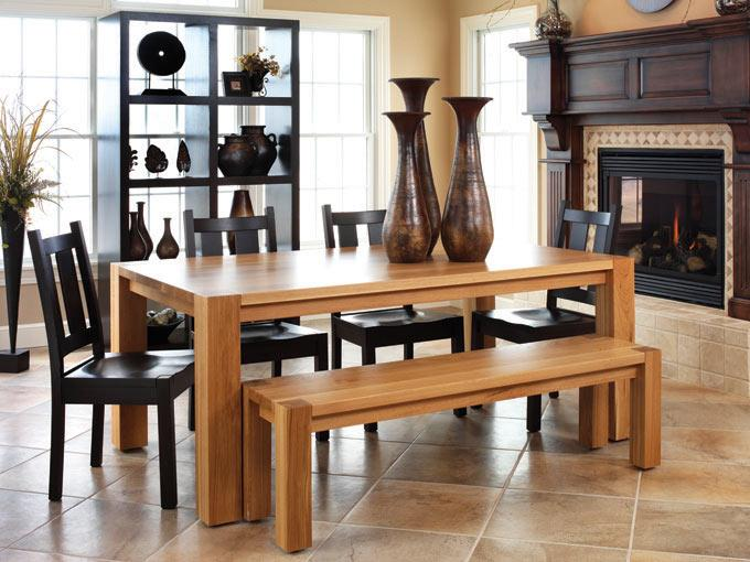 Ann Arden Amish Sequoia Modern Dining Set