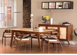 Ann Arden Amish Tribeca Modern Dining Set