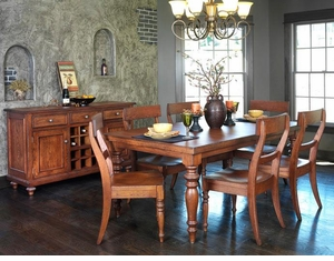 Ann Arden Amish Tuscany Dining Set