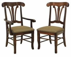Ann Arden Amish Atlantis Solid Wood Dining Chairs