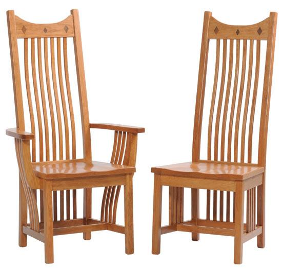 Ann Arden Amish Classic Mission Dining Chairs