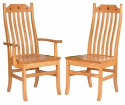 Ann Arden Amish Diamond Mission Chairs