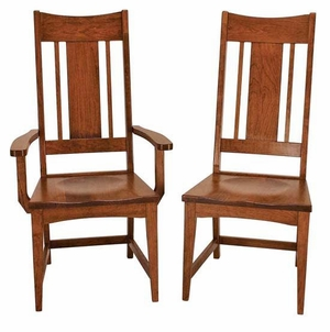 Ann Arden Amish Mission Dining Chairs Version 4