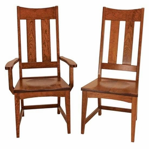 Ann Arden Amish Mission Dining Chairs Version 5