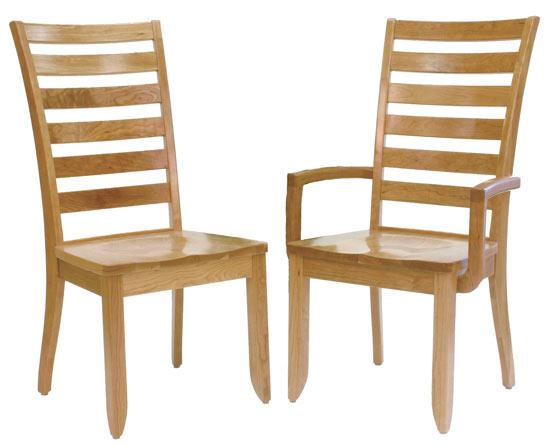 Ann Arden Amish Modern Shaker Ladderback Dining Chairs