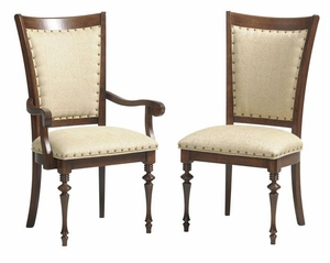 Ann Arden Amish Montecito Dining Chair with Nail heads