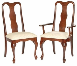 Ann Arden Amish Queen Anne Dining Chairs