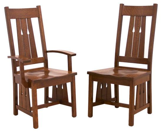 Ann Arden Amish Santa Cruz Dining Chair