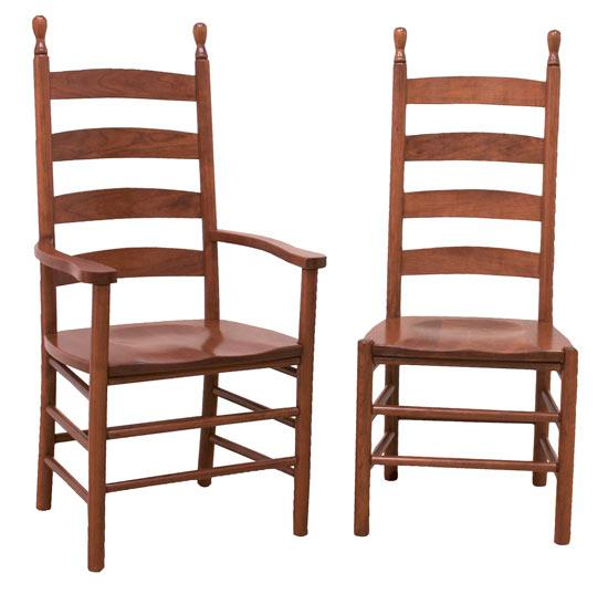 Ann Arden Amish Shaker Ladderback Dining Chairs Dining