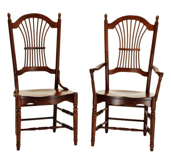Ann Arden Amish Sheaf Back Dining Chairs