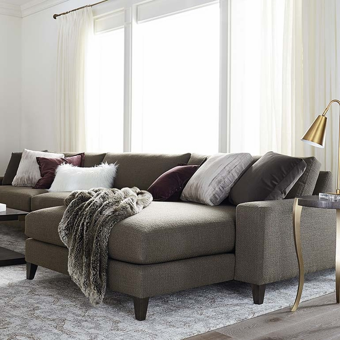 B Modern Terafino Small Right Hand Sectional Chaise By