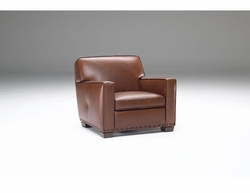 B528 Armchair in 25FT Montecarlo Leather by Natuzzi