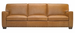 B528 Natuzzi Editions Leather Sofa