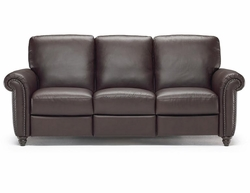 B557 239 15WC Sofa in Brown Leather by Natuzzi