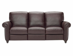 B557 Natuzzi Editions Reclining Leather Sofa