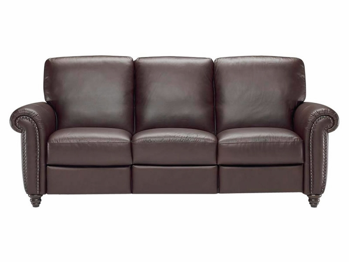 B557 Natuzzi Editions Reclining Leather Sofa Leather