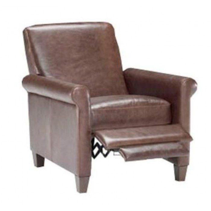 B580 Reclining Chair in Distressed Leather 15ZH by Natuzzi