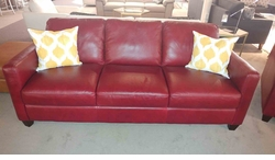 B591 Natuzzi Sofa in Red Leather