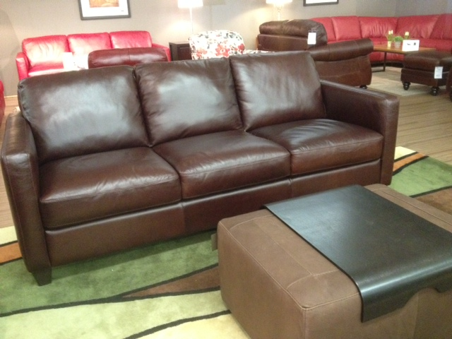 B591 Sofa By Natuzzi Ediitons In Brown Leather Labor Day