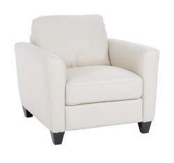 B592 003 20JH Chair in Dream White Leather by Natuzzi