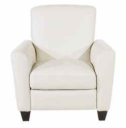 B592 004 20JH Recliner Chair in Dream White Leather by Natuzzi