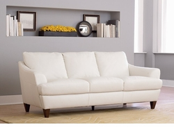 B635 064 10BLSP Sofa in white leather by Natuzzi