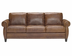 B690 Natuzzi Editions Leather Sofa