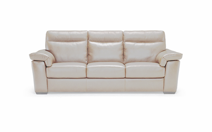 B757 155 10ZE Sofa with 2 Electric Recliners in Tan Leather by Natuzzi