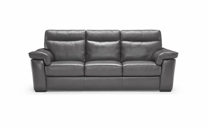 B757 155 20JF Sofa with 2 Electric Recliners Black Leather by Natuzzi