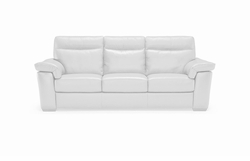 B757 155 20JH Sofa 2 Electric Recliners in White Leather by Natuzzi