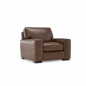 B858 Natuzzi Leather Club Chair