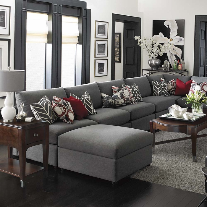 Beckham large sectional sofa sectional sofas for Large sofa small room