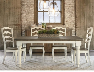 Benchmade 72 inch Farmhouse Table Solid Wood by Bassett