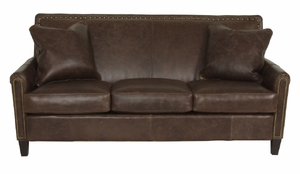 Braxton Leather Sofa by Norwalk Furniture