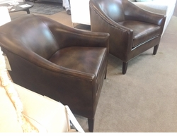 Brockton Leather Chair by Norwalk