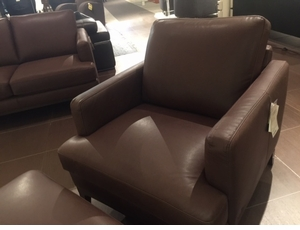 B970 Natuzzi Brown Leather Chair