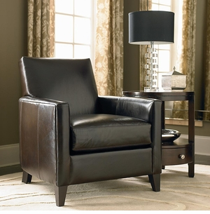 Bryce Leather Chair by Bassett Furniture