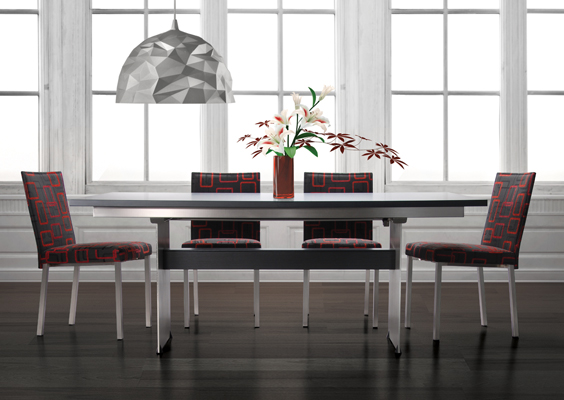 Butterfly Leaf Modern Wood Top Table