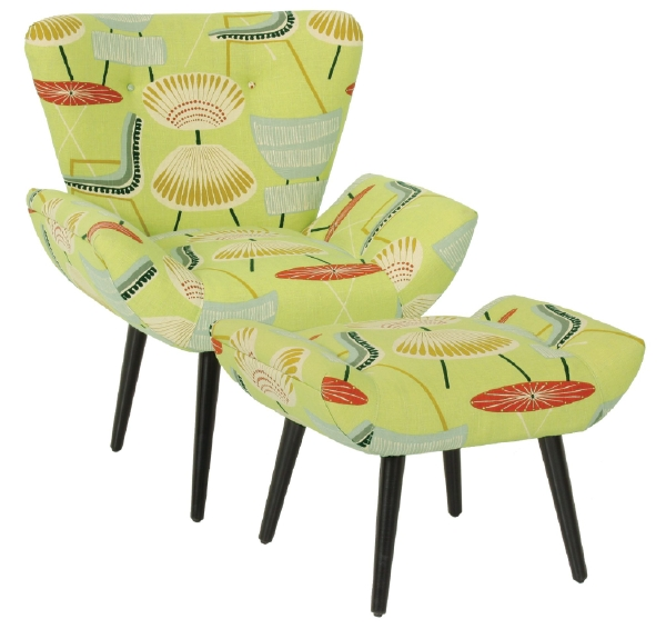 Chaz Chair and Ottoman by Norwalk Furniture