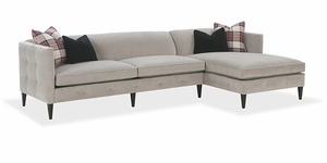 Claire Sectional Sofa by Rowe