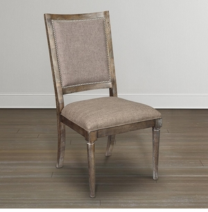 Compass Upholstered Back Dining Chair by Bassett