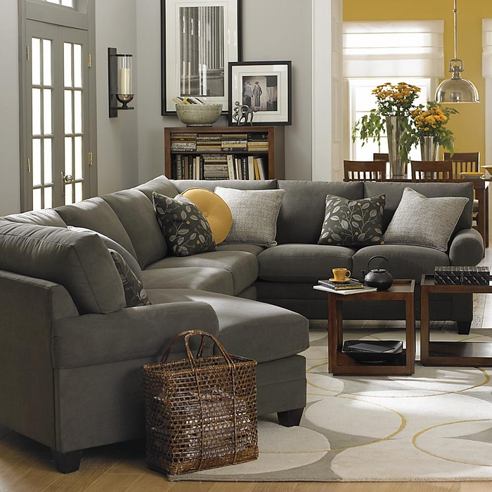 Nice CU2 Custom Cuddle Sectional Sofa By Bassett Furniture