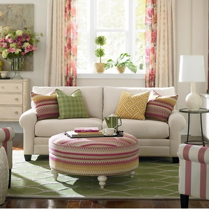 HGTV CU2 Custom Sofa White by Bassett Furniture