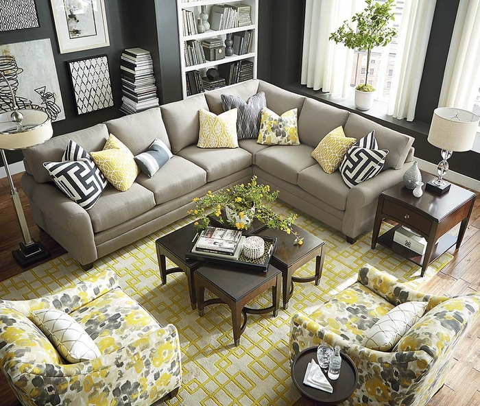 Lovely CU2 L Shaped Sectional Sofa By Bassett