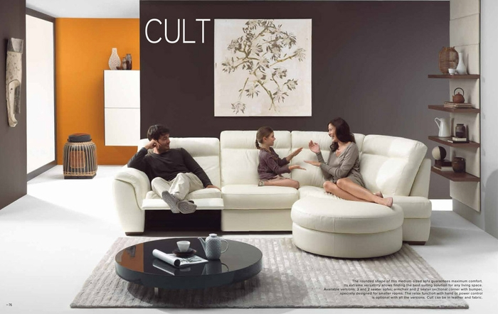 cult sectional leather sofa by natuzzi italia - Sectional Leather Sofas